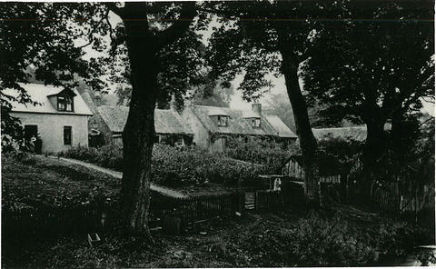 The back of houses at Kirktown of Fetteresso facing onto the River Carron. Applegarth, Kirktown Cottage and Near Hame.