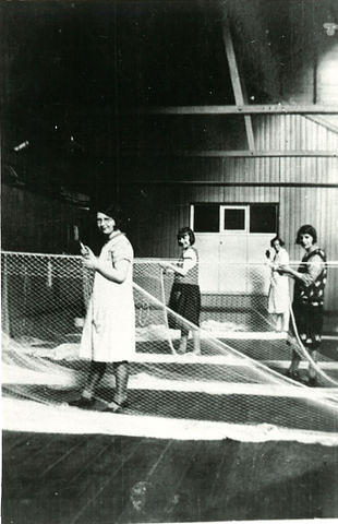 Women working in the net factory
