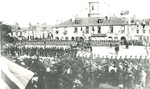 Military Parade in the Market Square