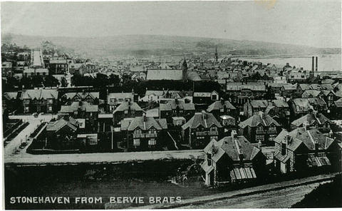 A view of Stonehaven from Bervie Braes