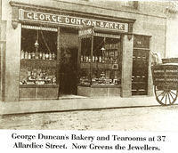 George Duncan's Bakery and Tearooms at 37 Allardice Street