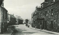The High Street in the Old Town - looking towards Dunnottar Avenue