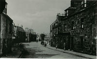A view of the High Street in the Old Town looking towards Dunnottar Avenue