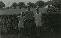 Three children in the country