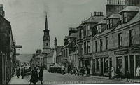A busy day on Allardice Street looking towards Bervie Braes.