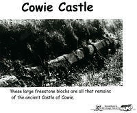The remains of Cowie Castle