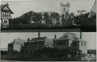 Top - Fetteresso Church from the corner of Bath Street & the Slug Road, with Maxieburn on the right. Bottom - an early photograph of Mackie Academy in Arduthie Road.