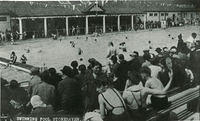 The open air swimming pool at the beach.