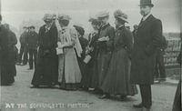 At the suffragette Meeting