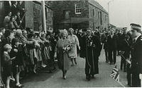Queen Elizabeth, the Queen Mother at the opening of the Tolbooth.