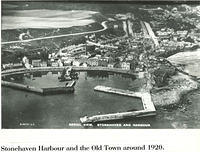 Aerial photograph of Stonehaven Harbour around 1920