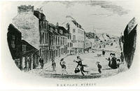 Drawing of Barclay Street in the mid 1800s