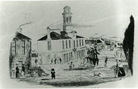 Drawing of the Market Buildings