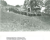 Planting an oak tree beside Dunnottar Church 1919