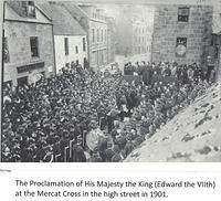 Proclamation of Edward VII as King at the Mercat Cross in 1901